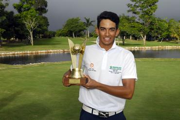 Max Lima, campeão do torneio (Crédito: Zeca Resendes/CBG)